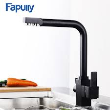 Kitchen Filter Faucet Aliexpress Com Buy Fapully Black Kitchen Faucet Drinking Water