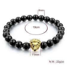 bracelet handmade images Natural stone lion bracelet handmade beads ethnic mens jewelry jpg