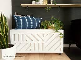 remodelaholic easy plywood storage box with geometric inlay