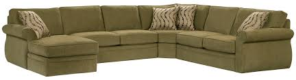 khaki fabric sofa with cream cushions of cozy sleeper sectional