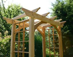 wedding arbor kits cedar canterbury arbor