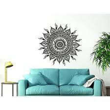 ornament moroccan pattern namaste lotus wall sticker decal