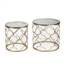 Quatrefoil Side Table Living Room Coffee Side Tables