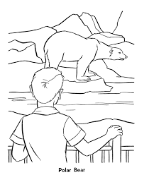 zoo animal coloring pages polar bears exhibit coloring