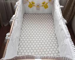 baby crib bumper etsy