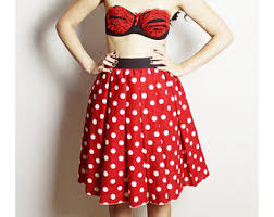 Halloween Costume Minnie Mouse Minnie Mouse Skirt Handmade Disney Skirt Halloween Costume