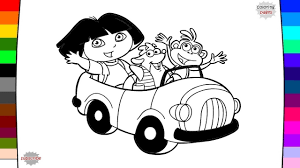 dora coloring page drawing and coloring youtube