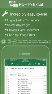 Converting Pdf To Excel Spreadsheet Pdf To Excel For Iphone Ipad And Other Ios Devices Convert Pdf