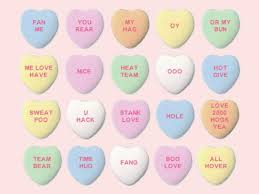 candy hearts for s day computer ai generates dorky candy heart
