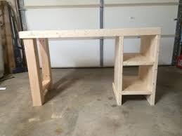 Diy Wood Desk Home Made Desk This Way I Could A Desk That Actually Fits Me
