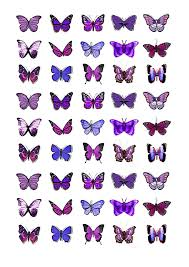 amazon com 45x purple butterflies edible cake toppers birthday