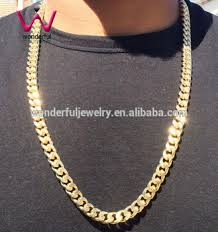 yellow gold necklace chains images 3 5 7mm mans chain boy chain yellow gold cuban chain curb link jpg