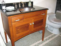 Mission Vanity Hand Crafted Custom Teak Furniture Style Bathroom Vanity By Near