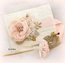 ivory wedding guest book lace guest book blush white gold ivory vintage wedding