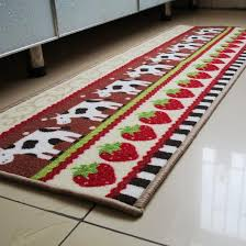 Red Kitchen Rugs 40x120cm Red Apple Kitchen Mat Modern Printed Nylon Kitchen Rugs