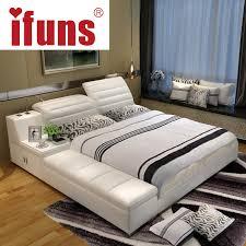 Led Bed Frame Ifuns Luxury Bedroom Furniture Home Soft King Size Bed