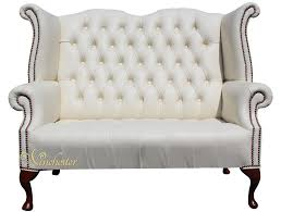 high back leather sofa chesterfield newby 2 seater queen anne high back wing chair sofa