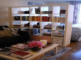 bloombety room divider ideas for studio with bookcase room