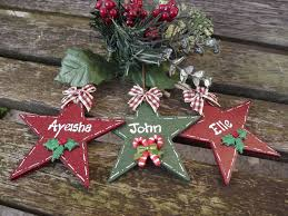 personalised christmas star hand painted wooden xmas tree