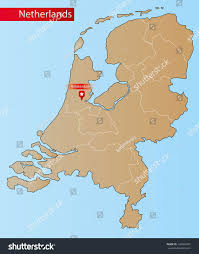 Map Netherlands Map Netherlands Islands Provinces Stock Vector 142404697