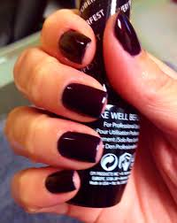 glitternailartist dark fall winter nails using opi every month