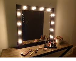 makeup vanity set with lights for sale