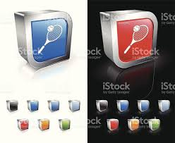 opposite colors of tennis square icon background stock vector art