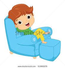 Kid Armchair Vector Illustration Kid Sitting On Armchair Stock Vector 513865078