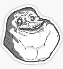 Forever Alone Memes - forever alone meme stickers redbubble