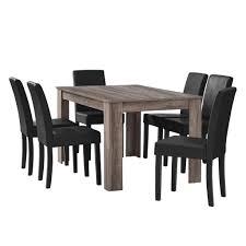 Esszimmer Eiche Grau En Casa Esstisch Eiche Antik Mit 6 Stühlen Real