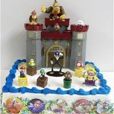 mario cake topper deluxe mario birthday cake topper set featuring