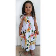nadina white tube top girls hawaiian dress 109r nadina white