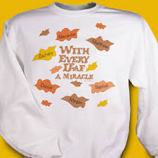every leaf a miracle personalized thanksgiving sweatshirts