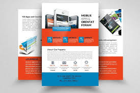 double sided brochure template double sided dl single panel