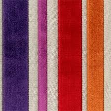 Colourful Upholstery Fabric Barnum Carnival Multi Purple Red Cut Chenille Stripe Upholstery