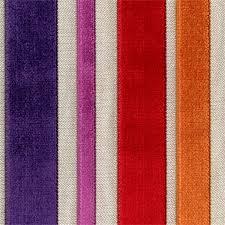 Velvet Chenille Upholstery Fabric Barnum Carnival Multi Purple Red Cut Chenille Stripe Upholstery
