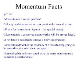 momentum momentum impulse conservation of momentum in 1 dimension