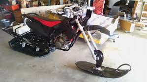 crf450r snow bike build dirt u0026 dual sport motorcycles 4wd