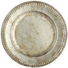 silver chania charger plate pier 1 imports