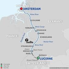 Map Of Switzerland And France by Switzerland River Cruise Avalon Waterways