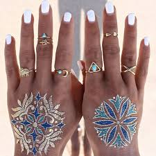 knuckle rings images Antique gold plated boho ring set of 7 knuckle rings midi ring jpg