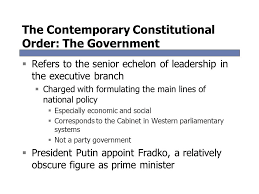 The Cabinet In Government Chapter Twelve Politics In Russia Comparative Politics Today 9 E