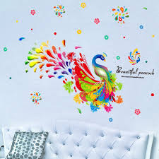 popular peacock wall stickers for kids buy cheap peacock wall peacock wall stickers for kids