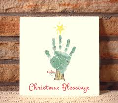 christmas tree handprint plaque 302b plq