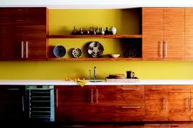 yellow kitchen wood cabinets yellow kitchen with wood cabinets janovic