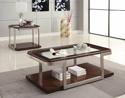 coaster company satin nickel coffee table furniture 701997 end table cappuccino satin nickel