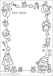 santa letter coloring page throughout omeletta me