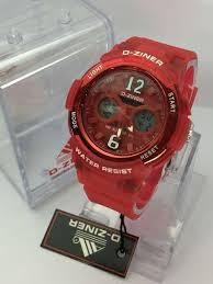 Jam Tangan Baby G Warna Merah tangan d ziner baby g dz3431 original warna merah dual time