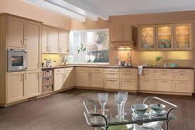 cuisine chene cuisine cottage classique en plaqué chêne clair façade à