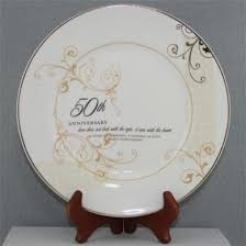 anniversary plate 50th anniversary plate set with stand 50th wedding anniversary
